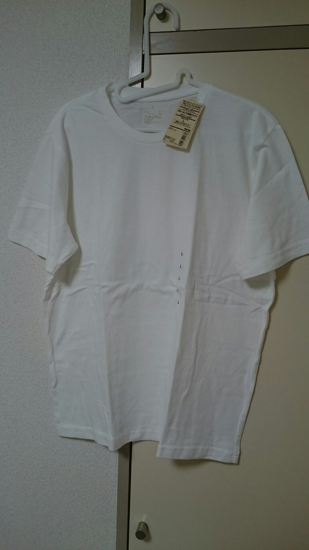 真っ白で何の変哲もないTシャツですw
